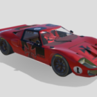 Ford Gt40 Spor Yarış Arabası