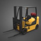 شاحنة رافعة شوكية صفراء