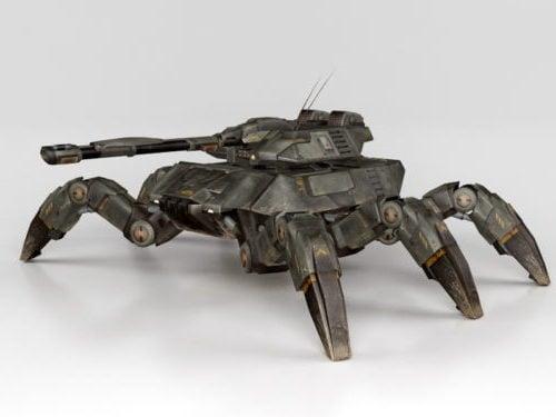 لعبة مفهوم دبابة العنكبوت