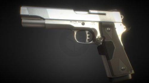 Pistola realista animada