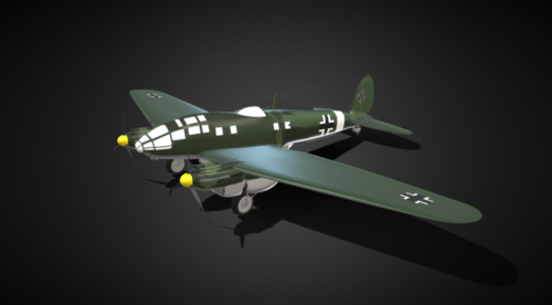 Aviones vintage He-111