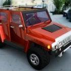 Auto Hummer H1 rote Farbe