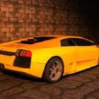 Yellow Sport Lamborghini Aventador