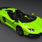 Lamborghini Aventador Green Car