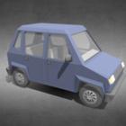 Vintage Lowpoly Маленькая машина