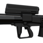Lowpoly Cdte Gun