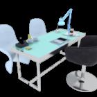 オフィス顧客テーブルチェアセット