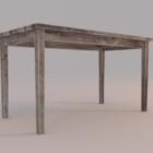汚れた木製テーブル