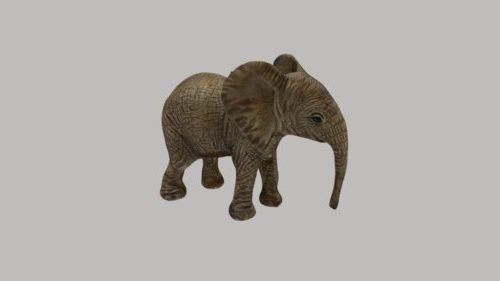 Vauva elefantti realistinen eläin