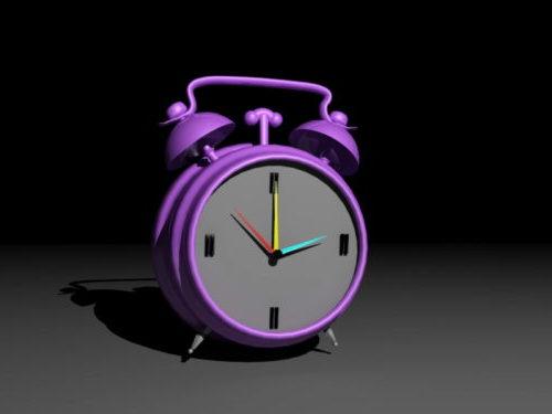 Purple Circle Alarm Clock