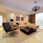 Salon simple et confortable