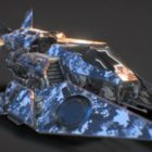 Spaceship With Old Armored