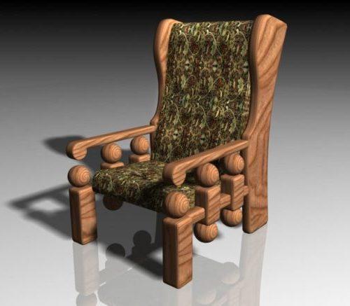 Antiikkilainen puinen nojatuoli Stokvel