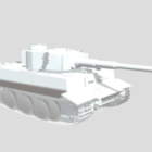 Tanque tigre Lowpoly