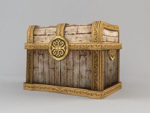 Cofre del tesoro de madera vintage