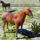 Wild paard Lowpoly