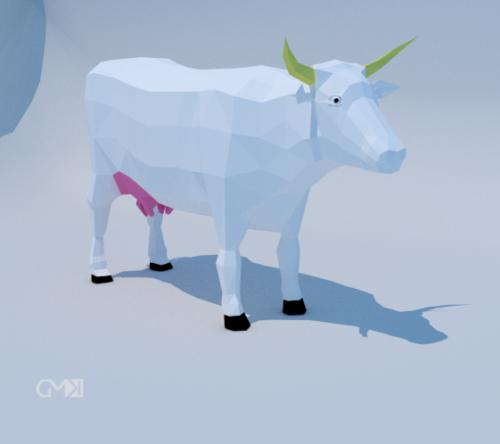 Lowpoly Poly lehmä