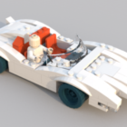 سيارة ليغو مع سائق