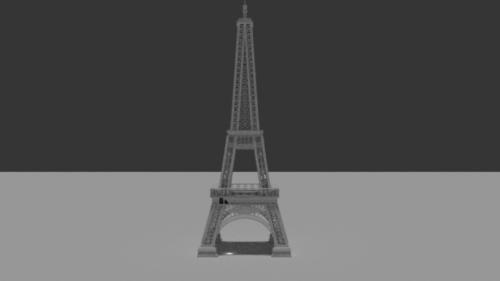 Eiffel torni Lowpoly