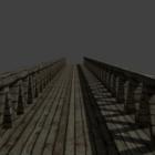 Puente de madera vintage