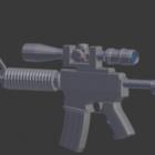 M4a1 Gun Lowpoly Style