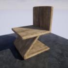 كرسي خشبي على شكل حرف Z ساق