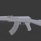 Ak-47 Rifle Lowpoly