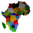 Karte der afrikanischen Länder