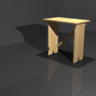 Wood African Stool