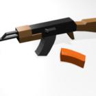 Ak47 Lowpoly pistola