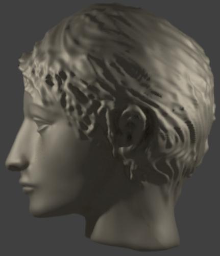 تمثال الرأس اليوناني القديم