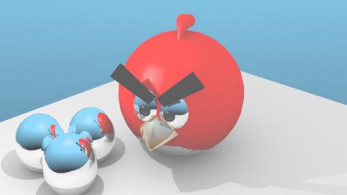 Personaje de dibujos animados de Angry Birds