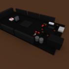 Habitación Negro