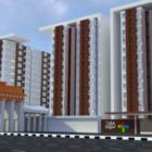 Edificio de apartamentos de matriz