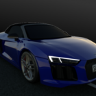 Audi R8 Spyder Blue Car