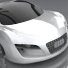 白いアウディRsq車
