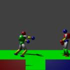 Modèle de combat de combat de jeu