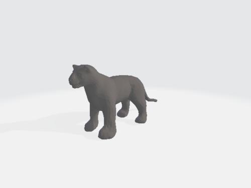 Gato grande Lowpoly Animal