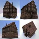 Edificio de ladrillo antiguo occidental
