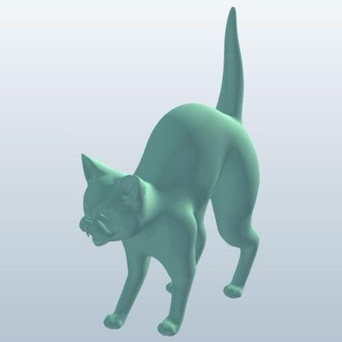 Black Cat Lowpoly Eläin