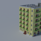 Apartment Building With Balcony V1