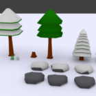 Cartoon Forest Trees Collection