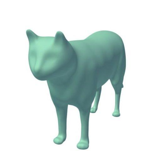 Kissa Lowpoly Eläin