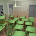 Klassrum med möbler