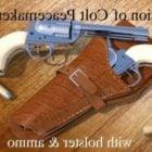 Pistolet Colt avec étui en cuir