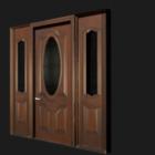 باب أمامي خشبي