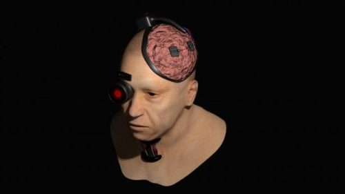 Cyborg Head Sculpt Character