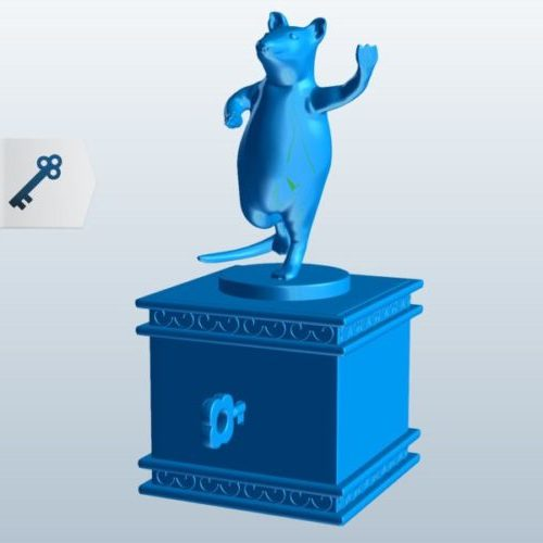 Dancing Mouse Figurine