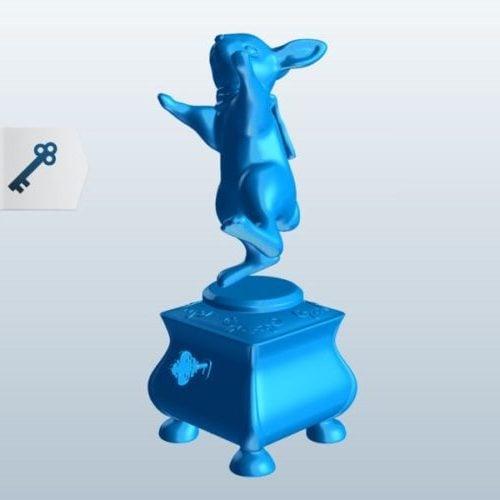 Dancing Rabbit Figurine