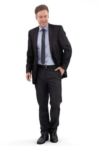 Men In Suit Character
